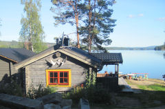Log huse i Loviken.