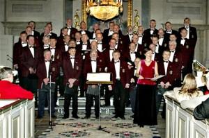 Sien Timra manlike koor in kerk Holm se.