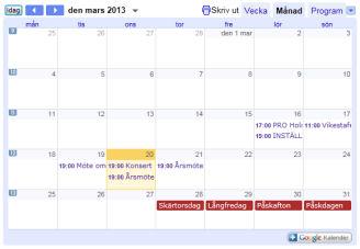 holmbygdens kalender