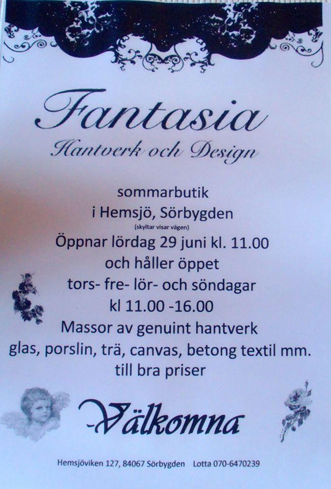 Sommarbutik i Sörbygden.
