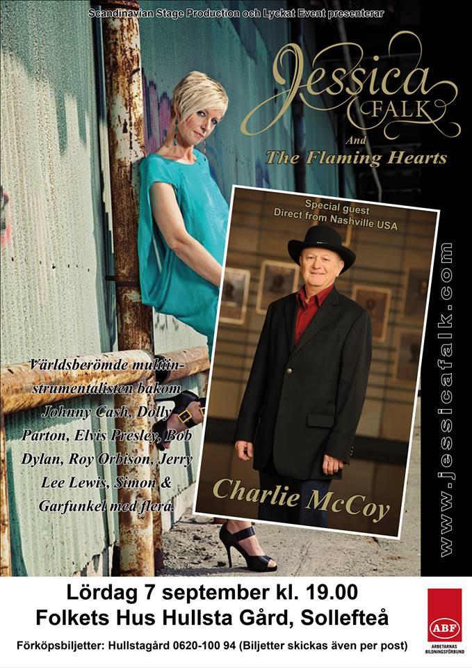 Kom och se Jessica Falks band med Charlie McCoy!