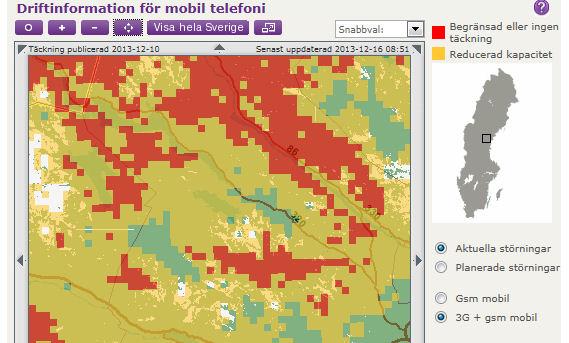 Avbrott mobil telefoni Telia.