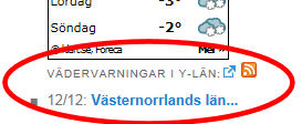 Wetterwarnungen auf der Titelseite.