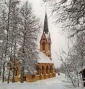holm-church-in-winter white mini
