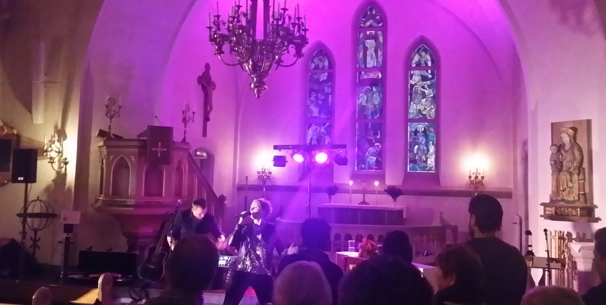 It rocked when Jessica Falk had a concert in the church.