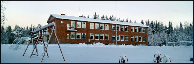 Anund Farm School in winter, perhaps for the last time.