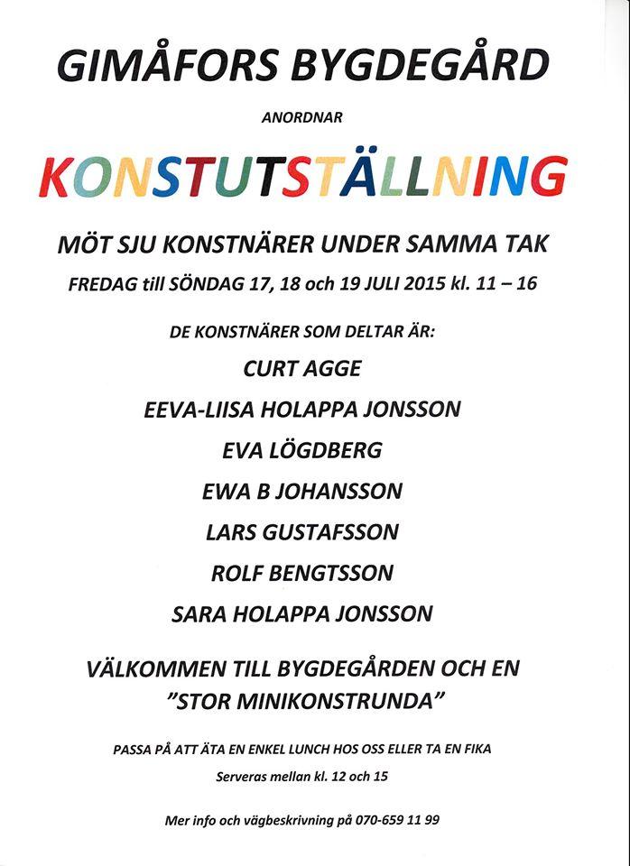 Konstutstallning in Gimåfors.